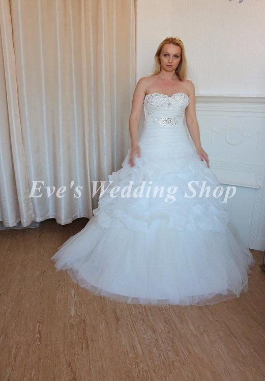 ruffled wedding dress uk size 8/10