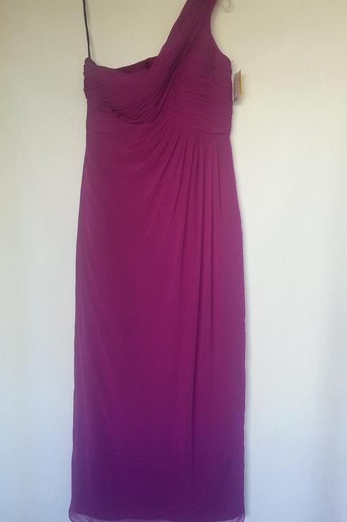 Dessy 6737 persian plum color evening / bridesmaid dress UK 14