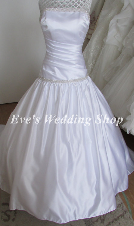 Dere Kiang white wedding dress UK 8