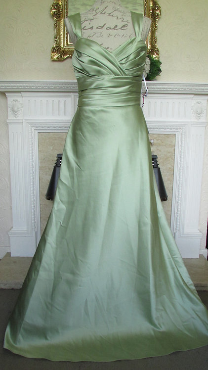 WTOO GREEN BRIDESMAID PROM DRESS SIZE 12
