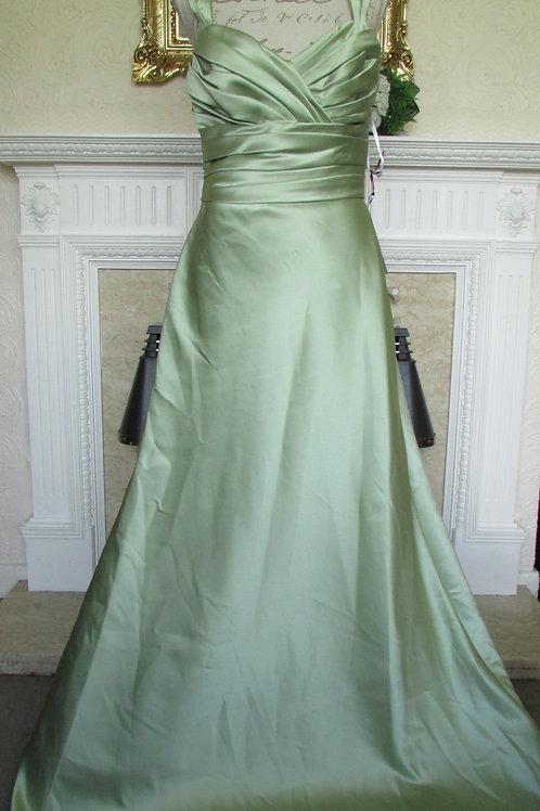 WTOO GREEN BRIDESMAID PROM DRESS SIZE 12