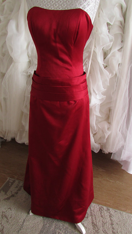 Red simple prom/evening dress Uk size 8