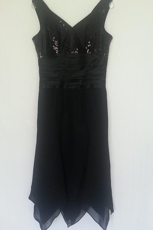 Linzi Jay X302 black evening / bridesmaid dress UK 12