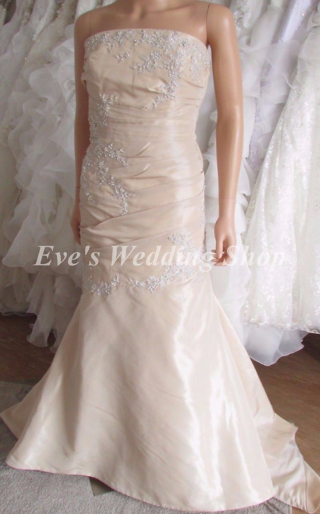 ALLIE RENEE GOLD WEDDING DRESS SIZE 12