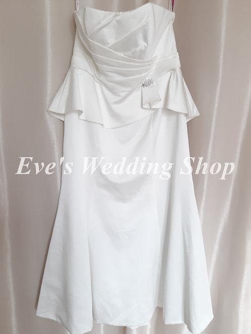 Emily Fox simple wedding dress UK 14