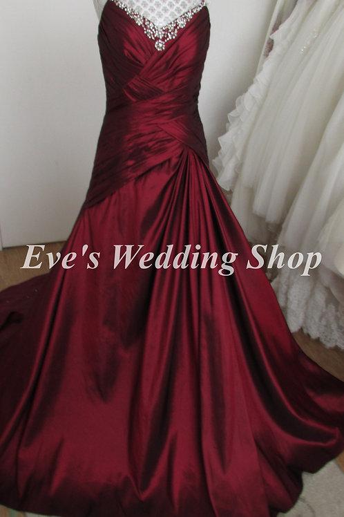 Veromia wine color wedding dress UK 12