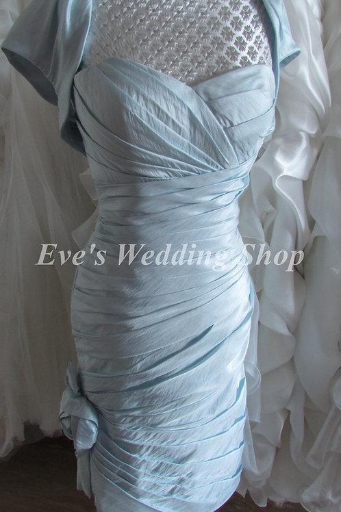 2 pc baby blue Veromia Mother of bride/groom dress ,bridesmaid dress EU 38 si