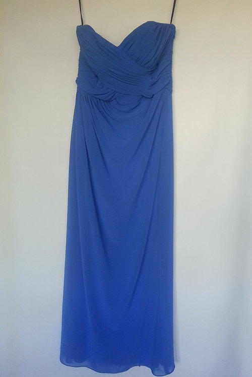 Dessy - social bridesmaids  lapis color evening / bridesmaid dress UK 14