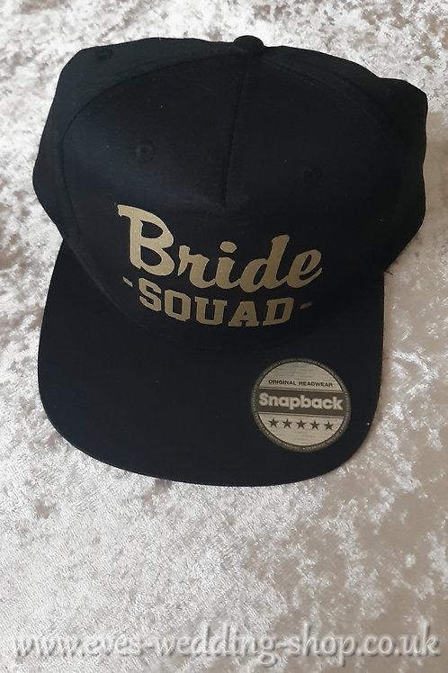 Black Snapback ''Bride Squad'' cap