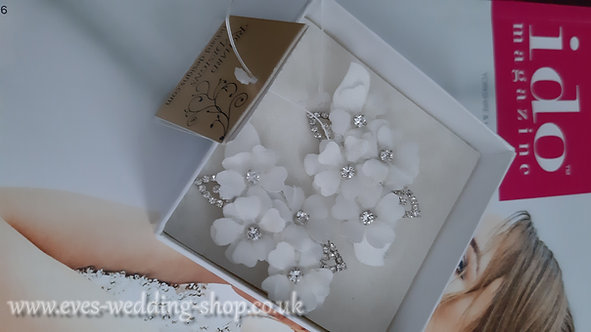 Richard Designs light ivory wedding hair accessory - clips