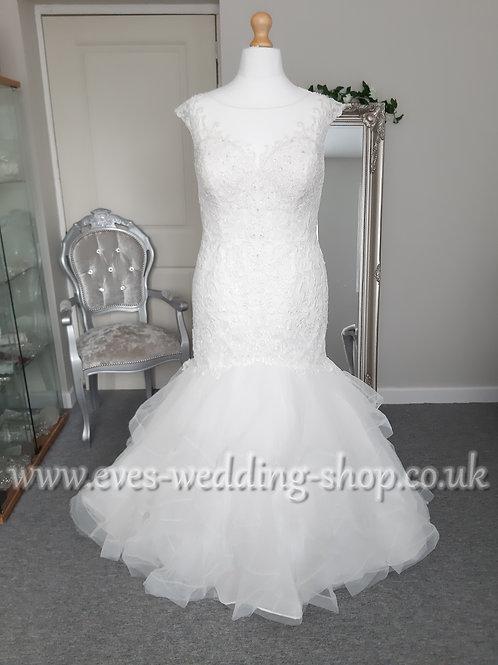 Michelle bridal ivory wedding dress UK 22