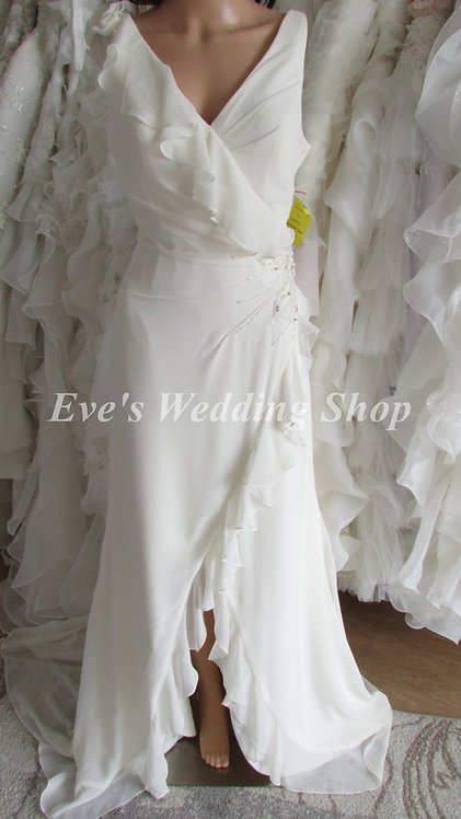 EDEN BRIDALS IVORY STRAP WEDDING DRESS UK 8