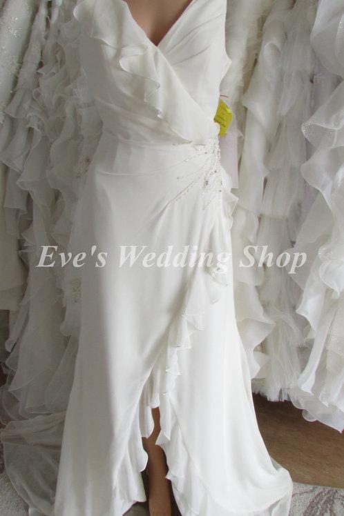 EDEN BRIDALS IVORY STRAP WEDDING DRESS UK 8