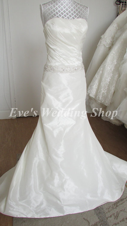 Ivory wedding mermaid dress UK size 10