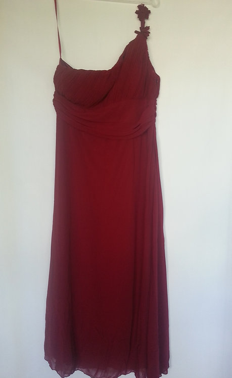 Ever Pretty burgundy bridesmaid dress UK 6 and 16