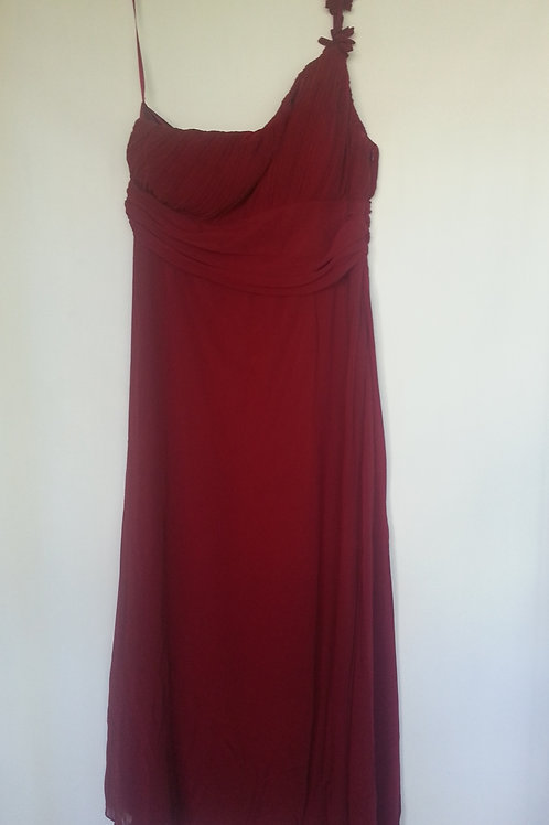 Ever Pretty burgundy bridesmaid dress UK 6 and 16
