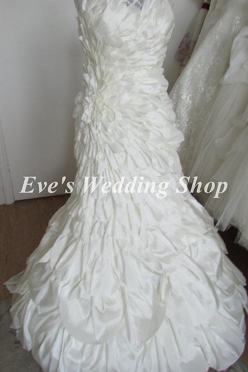 Veromia Couture petal wedding dress