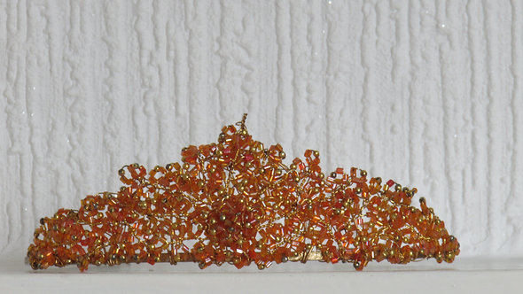 ORANGE COLOR PROM WEDDING  TIARA