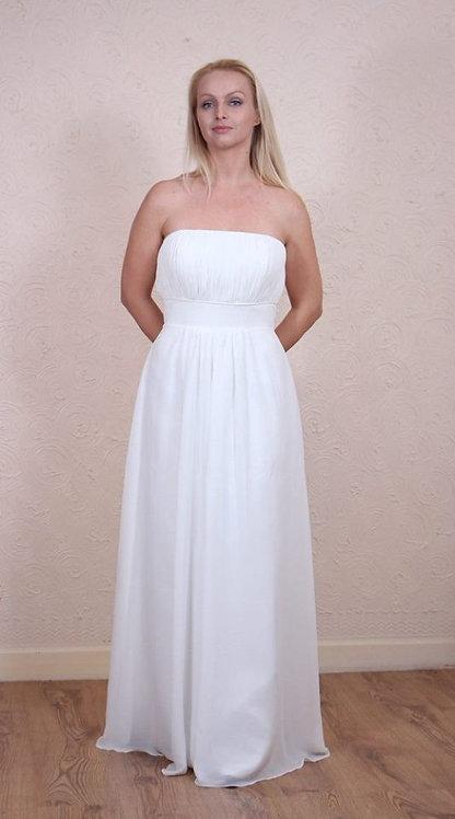 Ivory simple wedding dress UK 10/12