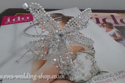 Swarovski silver color wedding headband