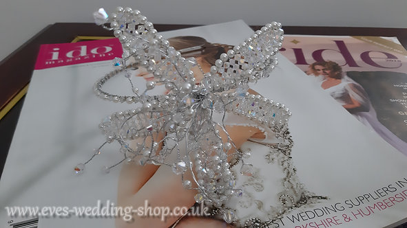Swarovski silver color wedding headband