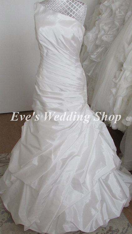 Alfred Angelo taffeta diamond white wedding dress Uk 12