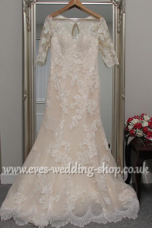 Anna Lizh lace wedding dress UK 14