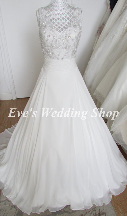 Alexia designs W423 v neck wedding dress UK 6/8