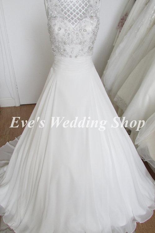 Alexia designs W423 v neck wedding dress UK 6/8