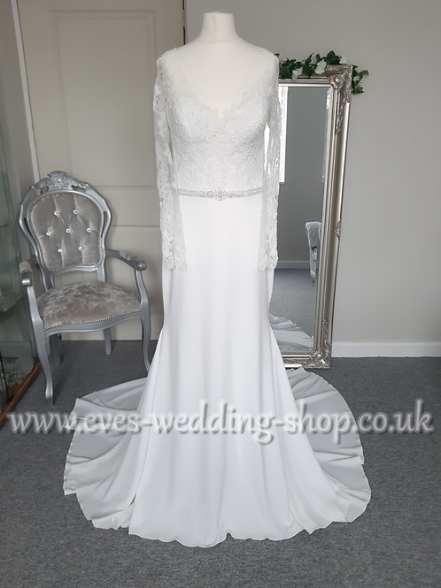 Pronovias ''Emy'' ivory wedding dress UK 12