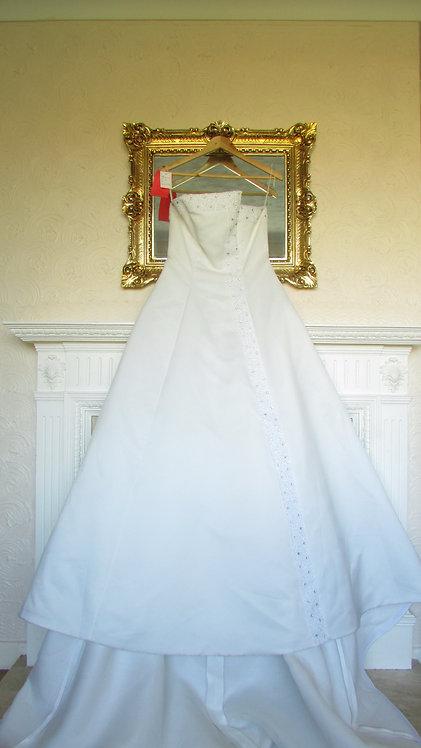 ALEX HANSON BRIDAL IVORY  A-LINE WEDDING DRESS 10