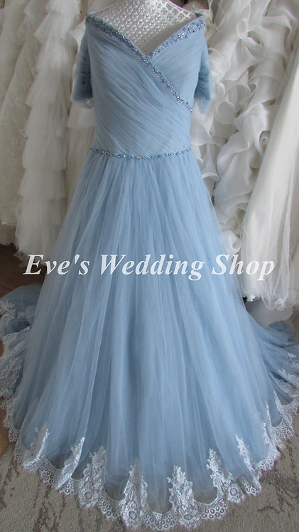 Anna Lizh blue wedding dress
