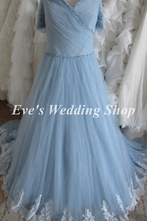 Anna Lizh blue wedding dress