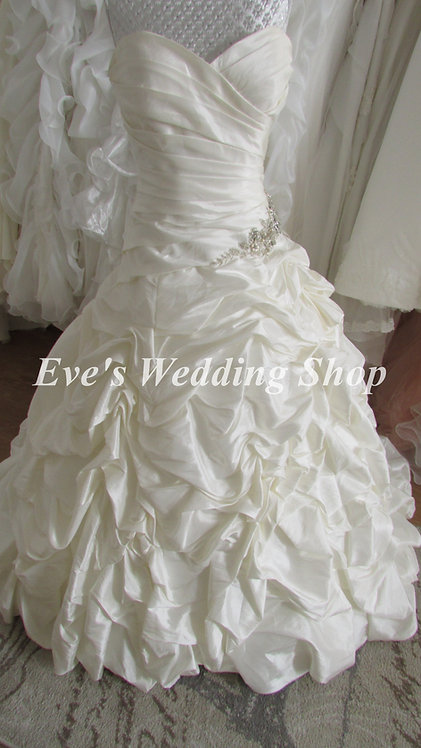 Eternity bride ruched ivory wedding dress UK 12/14