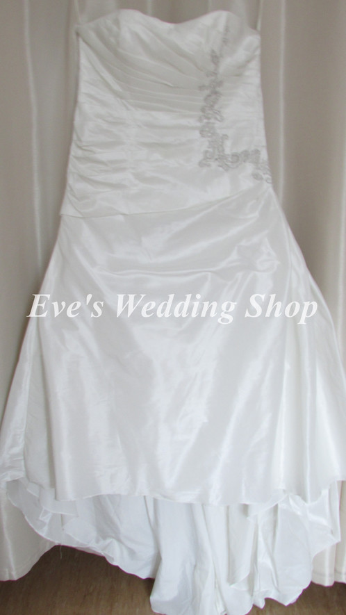 Beautiful ivory raw silk wedding dress UK 24 | Wedding dresses and ...