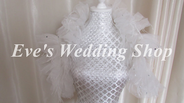 Wedding bolero/jacket approx. size 16/18