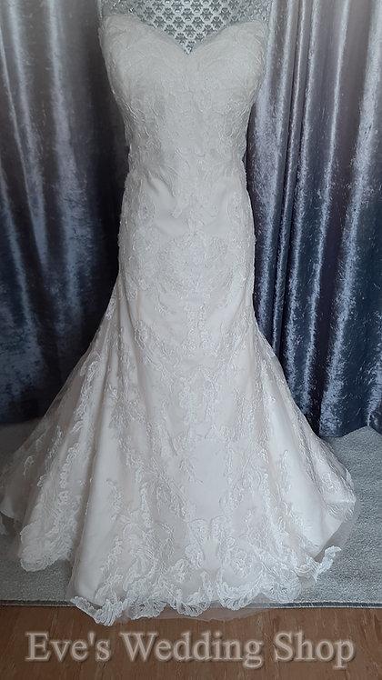 WTOO oatmeal/ivory colour wedding dress UK size 16