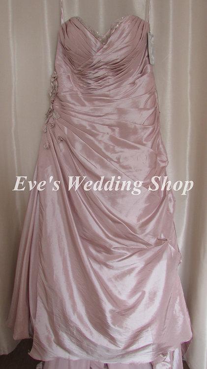 Veromia Sonsie rum pink wedding dress style VR61008 UK size 20/22