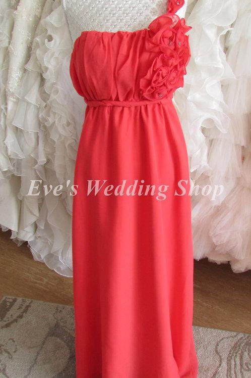 BRICK RED ANGEL FASHION BRIDESMAID  EVENING DRESS XL