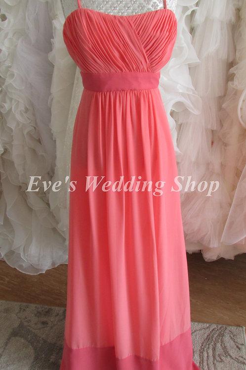WTOO CORAL BRIDESMAID EVENING DRESS UK 10