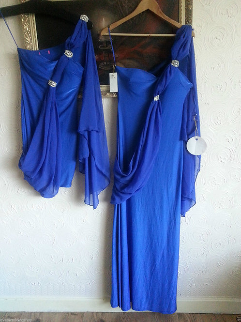 BLUE GRECIAN STYLE BRIDESMAID DRESS 8