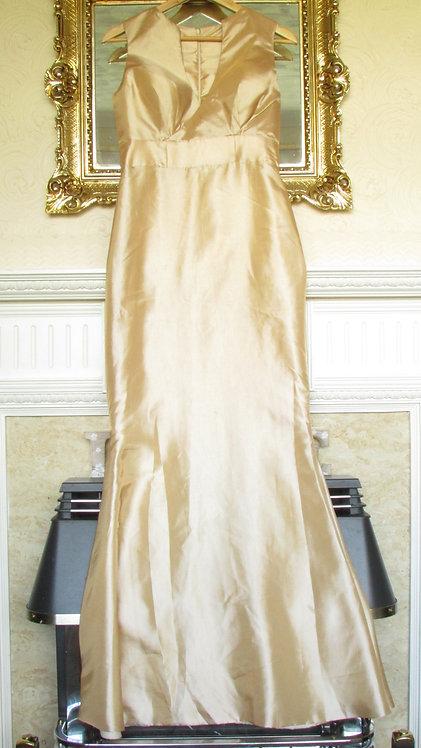 GOLD BNWOT WEDDING/PROM DRESS UK 10