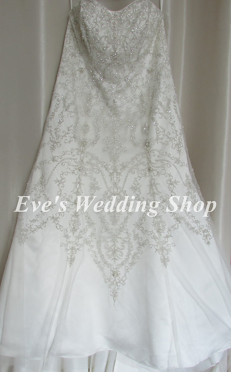 Beaded ivory wedding dress size 18/20