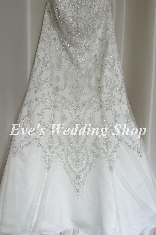Beaded ivory wedding dress size 18/20