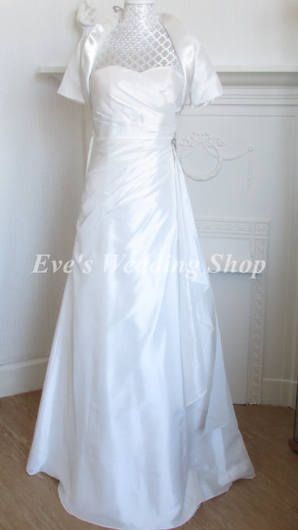 GINO CERUTTI IVORY SIMPLE WEDDING DRESS 4/6