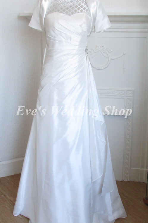 GINO CERUTTI IVORY SIMPLE WEDDING DRESS 4/6