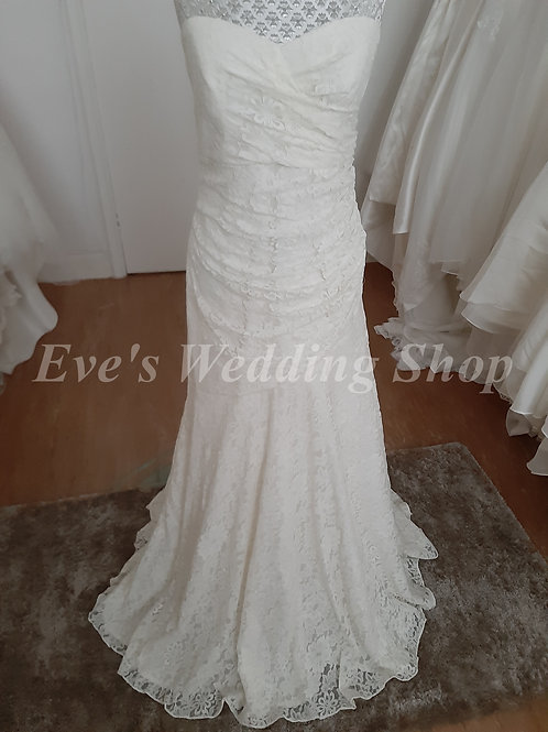 Sandals by Dessy ivory wedding dress UK 8