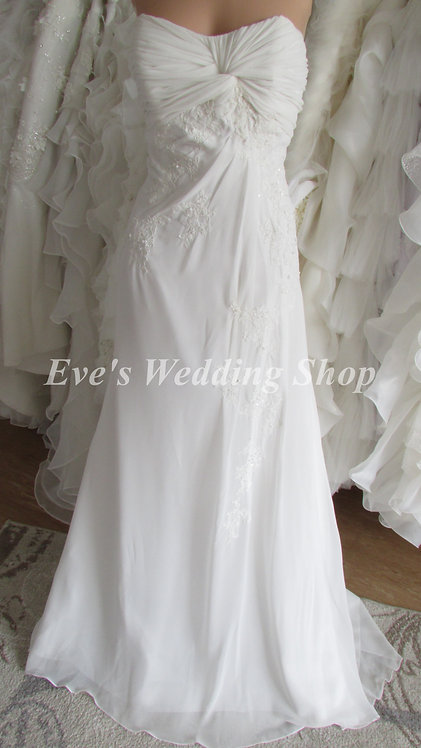 JUST FOR YOU NEW  IVORY WEDDING DRESS UK 12/14