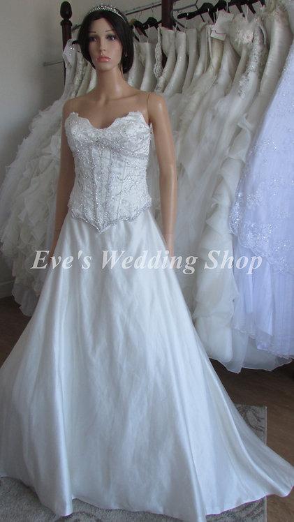 2pc beaded tulle wedding dress size 8/10