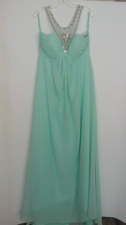 Bedazzled mint bridesmaid dress Uk 12
